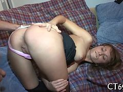 Sweetheart gets overspread with cum