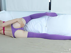 Amazing purple stockings