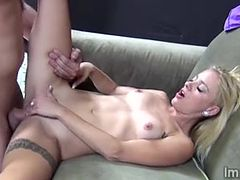 Slutty blonde beauty loves to get smashed savagely
