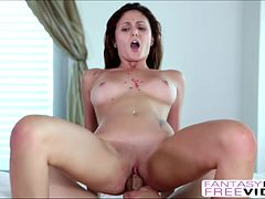 Very hot brunette Arianna Marie banged