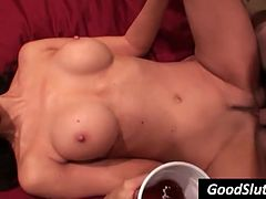 girl fucked on her back and needs a drink