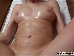 Euro masseuse Karol Lilien having hardcore sex for cash