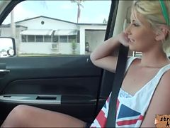 Cute blondie teen Dani Desire nailed by stranger dude