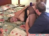 Busty house wife fucked in a hotel