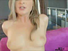 Blue eyed hottie Angel Snow pussy filled with lots of jizz