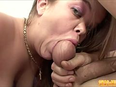 Blonde Midget Nailed By Pretty Hunk