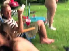 Young stunning couple fucking in outdoor